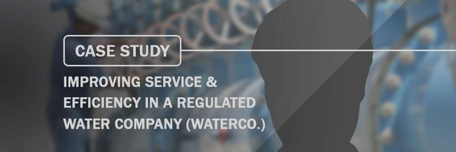 Case Study Improving Service & Efficiency in a Regulated Water Company Waterco