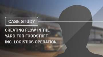 Case Study Creating Flow in the yard for Foodstuff Inc