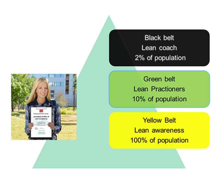 problem solving triangle showing different levels of qualification