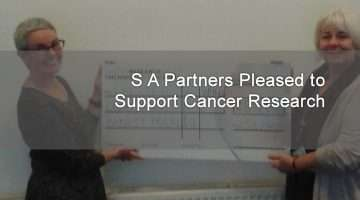 cheque award to cancer research