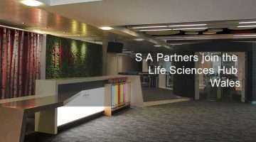 foyer image of the life science wales hub building