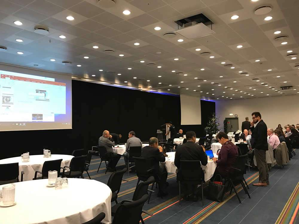 image of the Shingo conference hall where delegates are getting ready