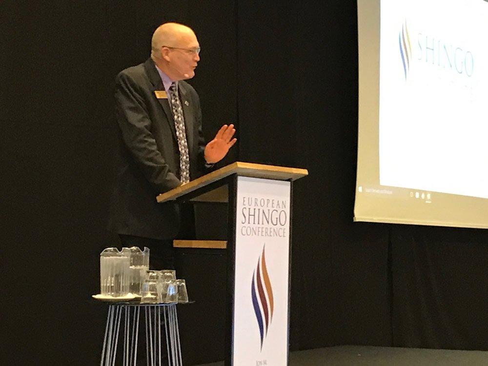 Ken Snyder talking at the Shingo Conference