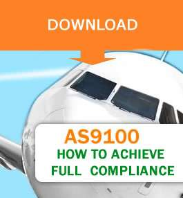 airliner front viewof as9100 certification download button