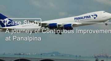 image of Jumbo jet with the Panalpina logo on the side