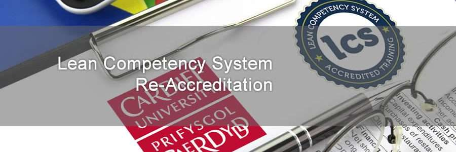 Lean Competency System and Cardiff University logos