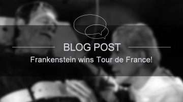 image of Frankenstien on bed