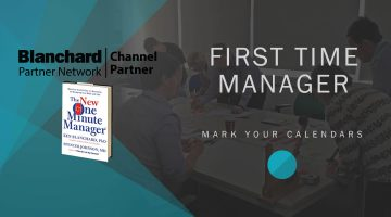 banner image with the text first time manager training
