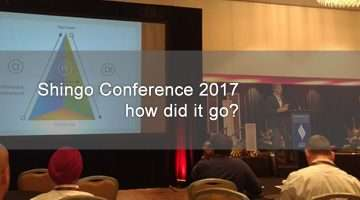 shingo conference image of stage and speaker