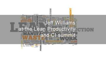 banner for lean productivity summit