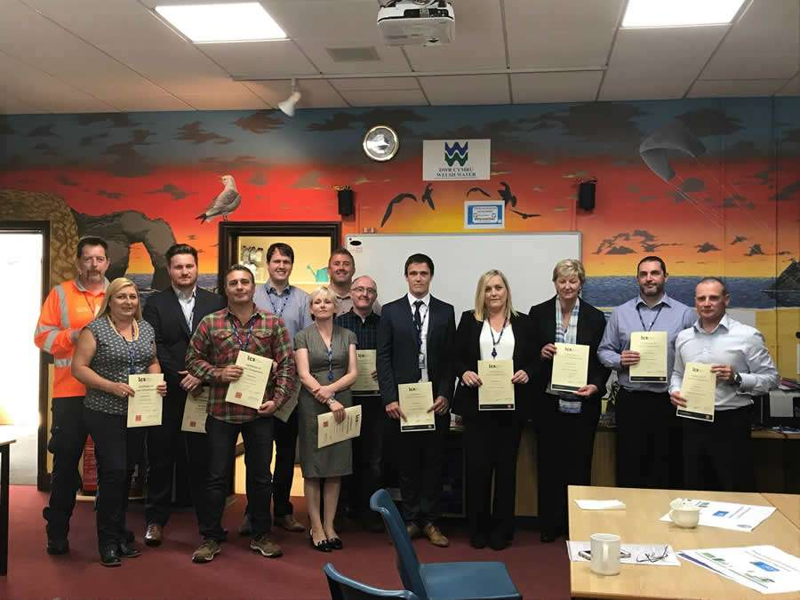 image of the group holding their certificates