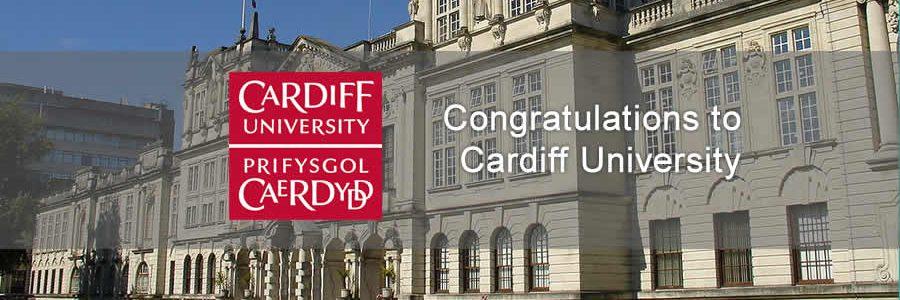 image of Cardiff University and logo