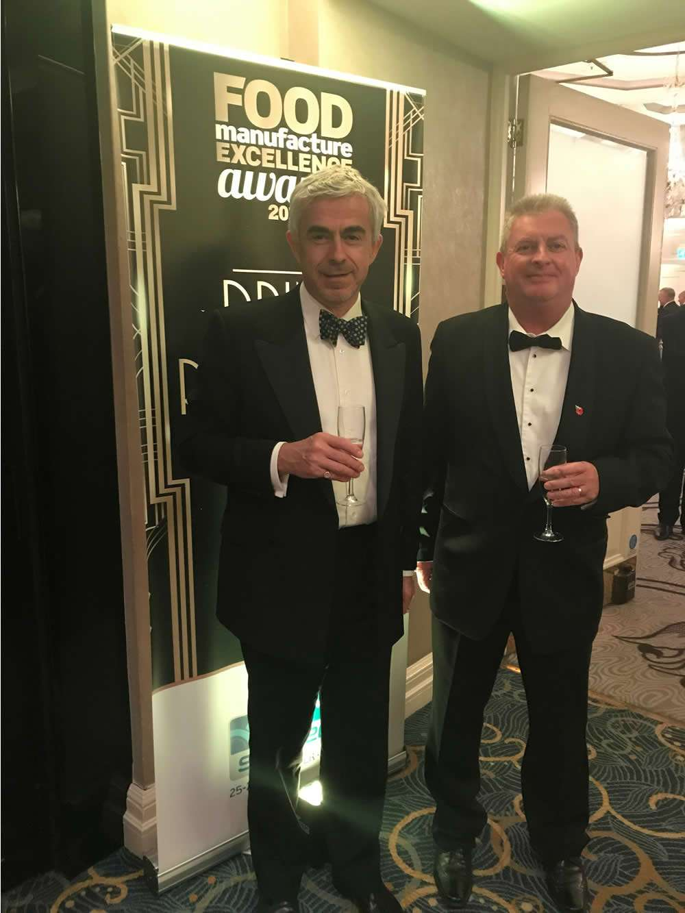 Jeff Williams and Richard Lyncj attending the Food Manufacturing Excellence Awards
