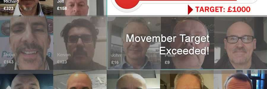 image of all who tool part int he Movember challenge