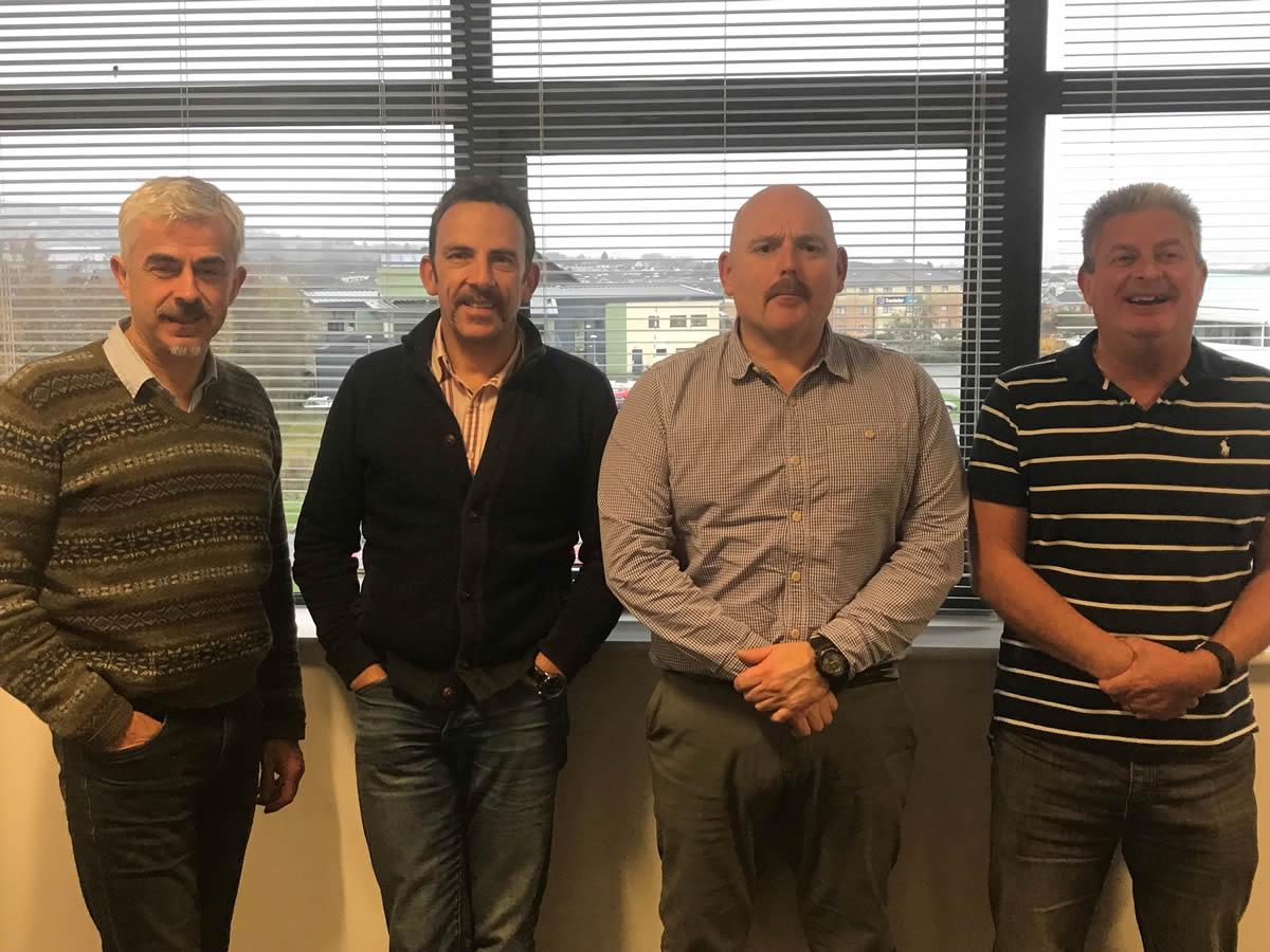 Richard Lynch, Robin Jaques, Simon Grogan and Jeff Williams