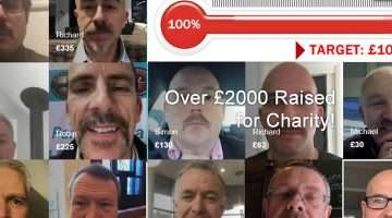 image of people with moustaches who took part in challenge