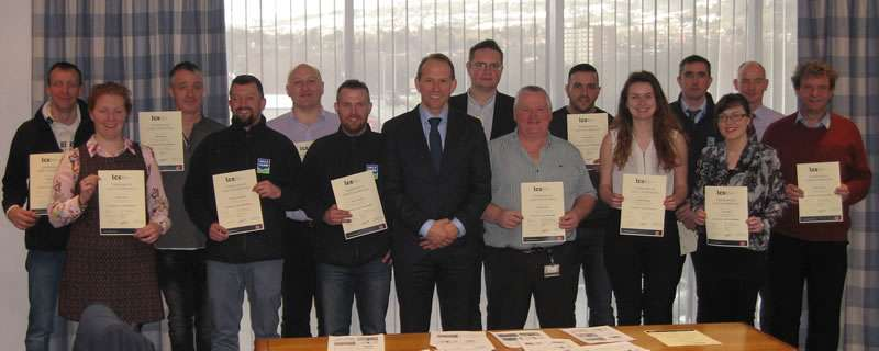 Dale Farm Team receiving their LCS certificates