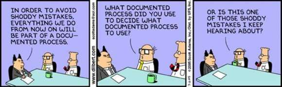 cartoon strip reflecing Programme Management and Continuous Improvement