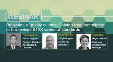 Improving AS9100 Standards Webinar banner image