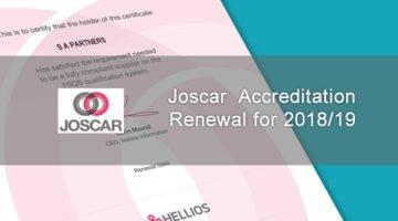 image of Joscar certificate