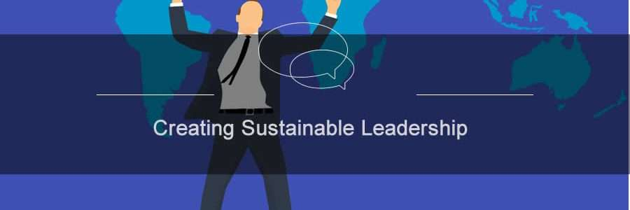 Man holding arms up high celebrating creating sustainable leadership