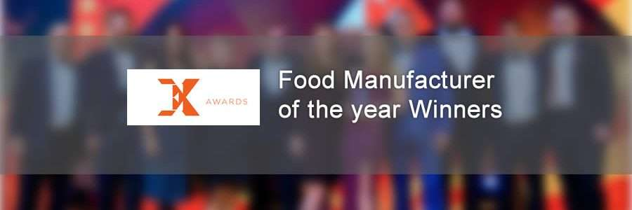 banner for the food manufacturer winners