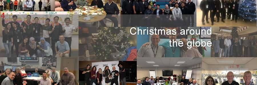 collage of images showing christmas photos
