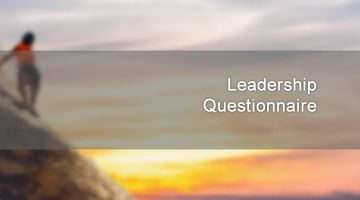 Leadership Questionnaire banner image showing climber on mountain