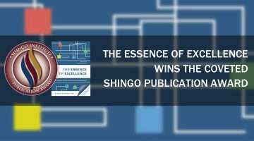 \shingo Publication Award banner for the Essence of Excellence.