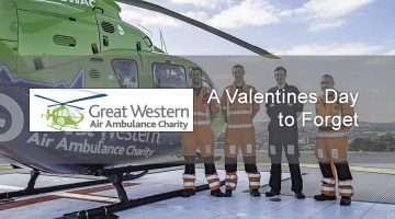 image of the air ambulance team and helicopter
