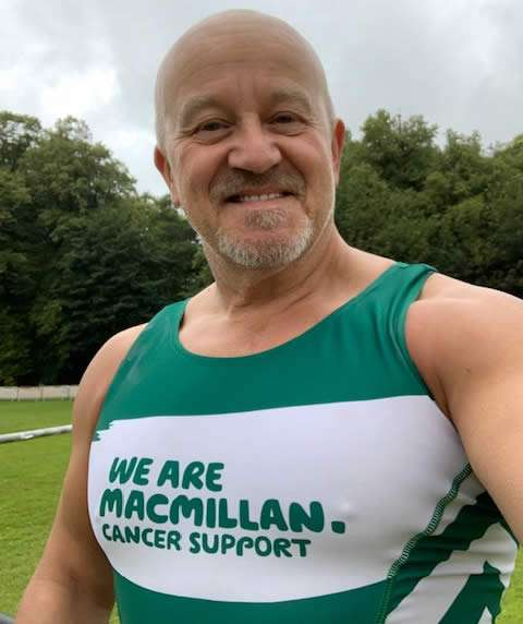 image of Mick in his Macmillan running top