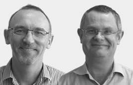 image of chris butterworth and peter hines