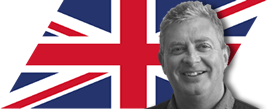 image of jeff williams with UK flag int he background