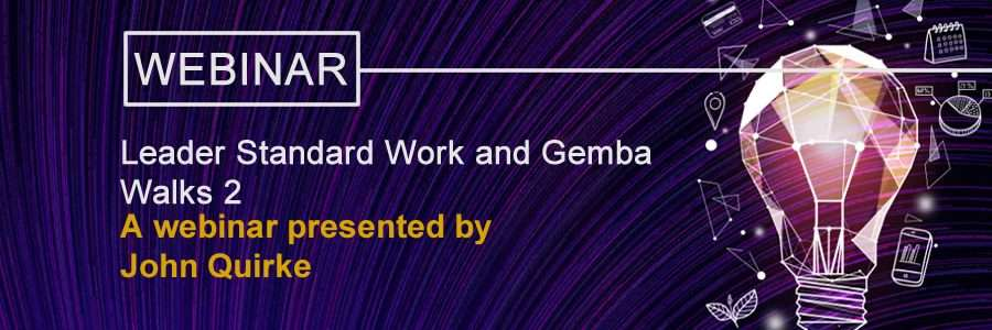 Leader Standard Work and Gemba Walks banner image