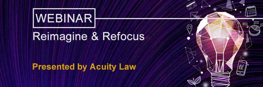 Reimagine Refocus Acuity Law banner image